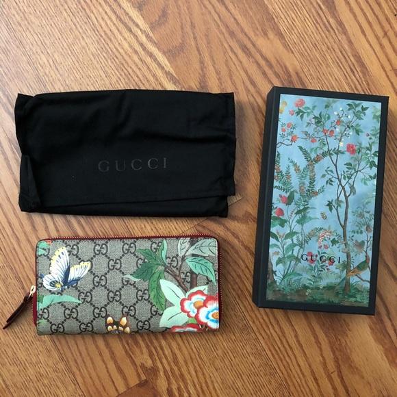 cba3b598cf7 Gucci Tian GG Supreme Zip Around Wallet